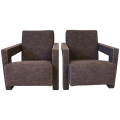 """Pair of """"Utrecht"""" Chairs by Gerrit Rietveld for Cassina"""