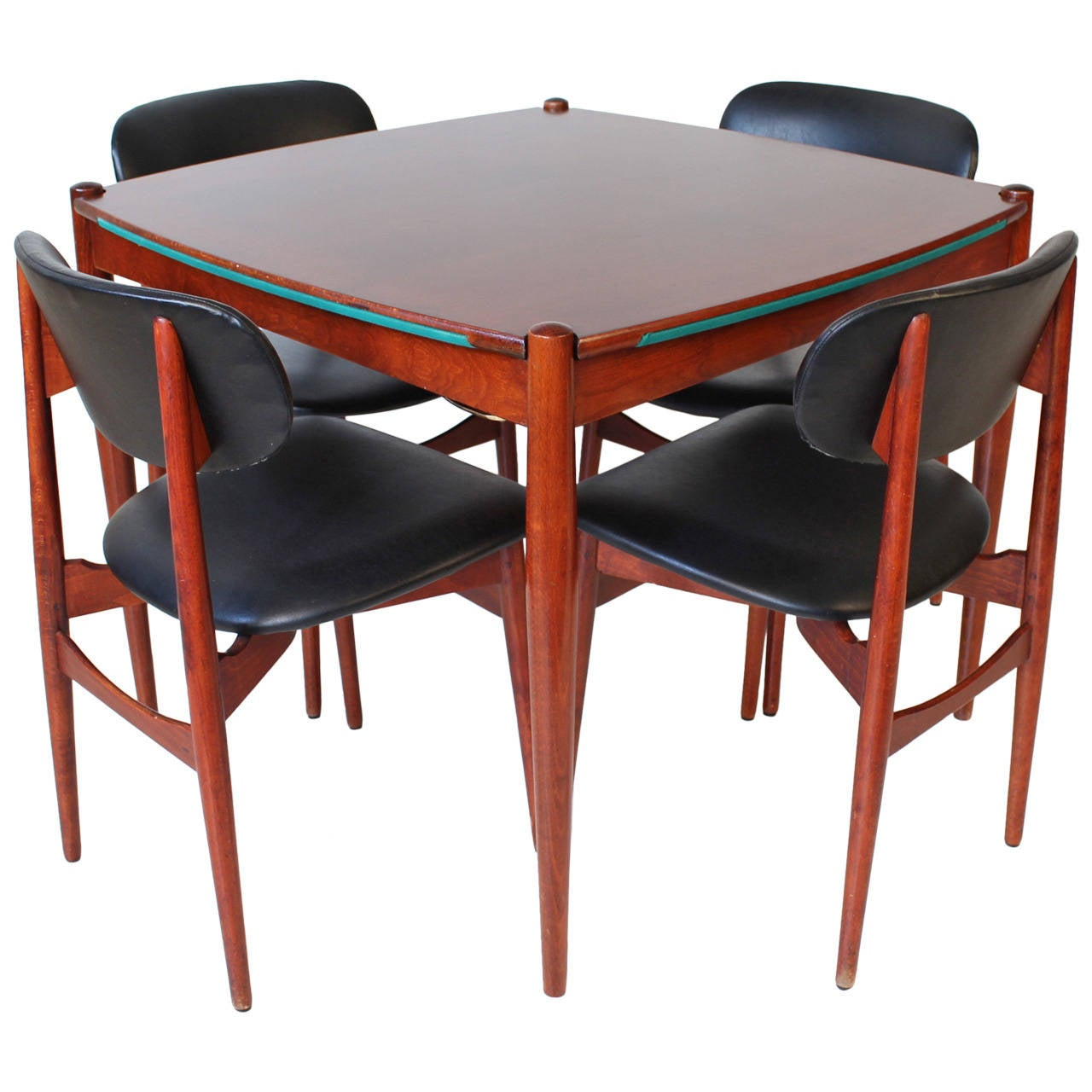 Italian mid century modern game table by gio ponti at 1stdibs for Contemporary game table and chairs