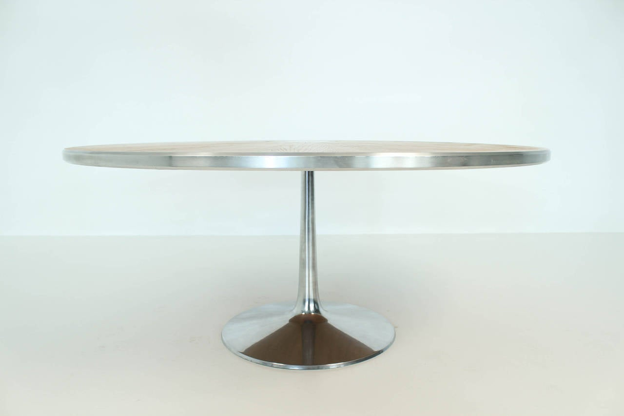 mid century modern pedestal dining table by poul cadovius at 1stdibs. Black Bedroom Furniture Sets. Home Design Ideas