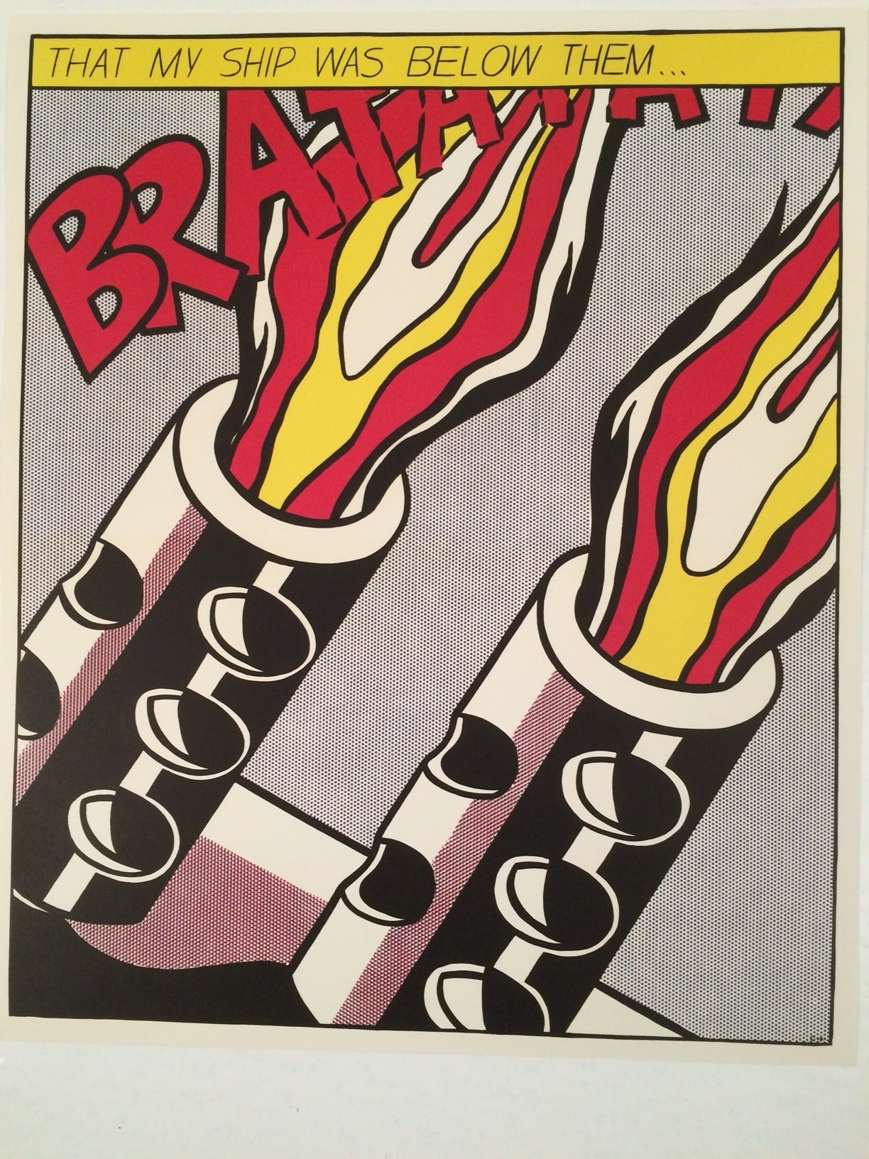 As i opened fire poster triptych 1966 by roy for Poster roy lichtenstein