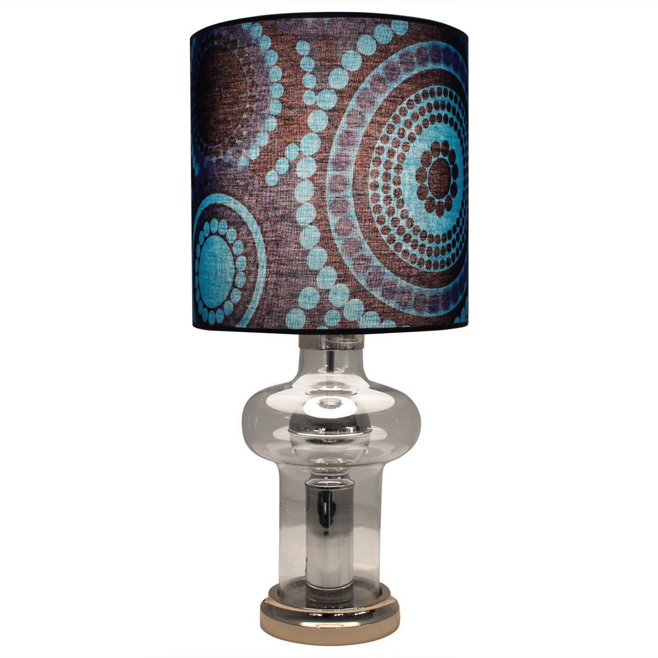 Funky Modern Wall Sconces : Funky Mid-Century Modern Table Lamp with Verner Panton Fabric Shade at 1stdibs
