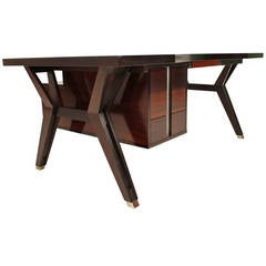 Executive Rosewood Office Set by Ico Parisi for MIM, Roma, 1958