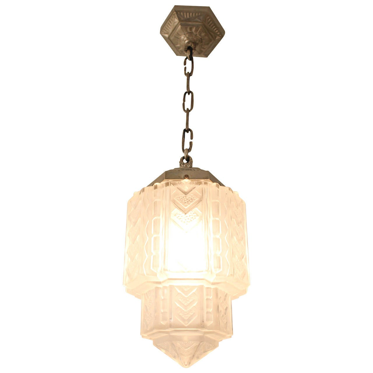 Stunning french art deco hall lamp 1930s at 1stdibs for Art deco era dates