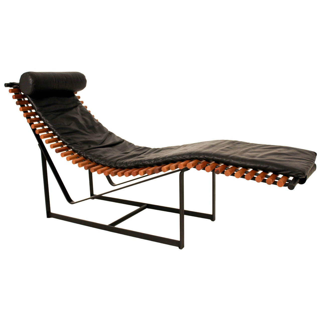 funky mid century modern chaise longue 1970s for sale at 1stdibs. Black Bedroom Furniture Sets. Home Design Ideas