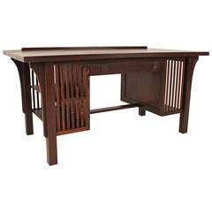 Solid Wenge Arts and Crafts Style Writing Table