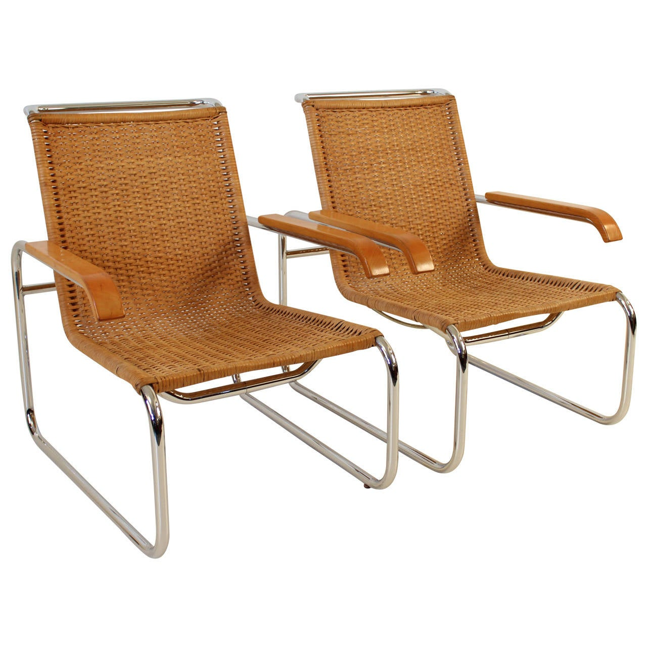 Gentil Nice Pair Of B35 Lounge Chairs By Marcel Breuer For Thonet For Sale