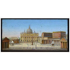 Italian Micromosaic Panel of St. Peter's Square