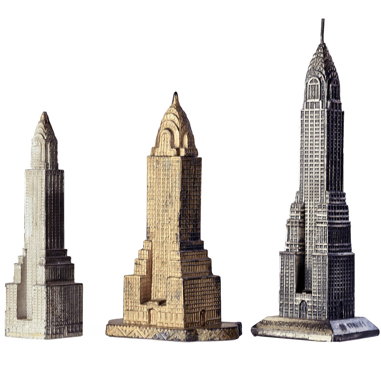 Three 1930 39 s architectural models of the chrysler building for Architecture 1930