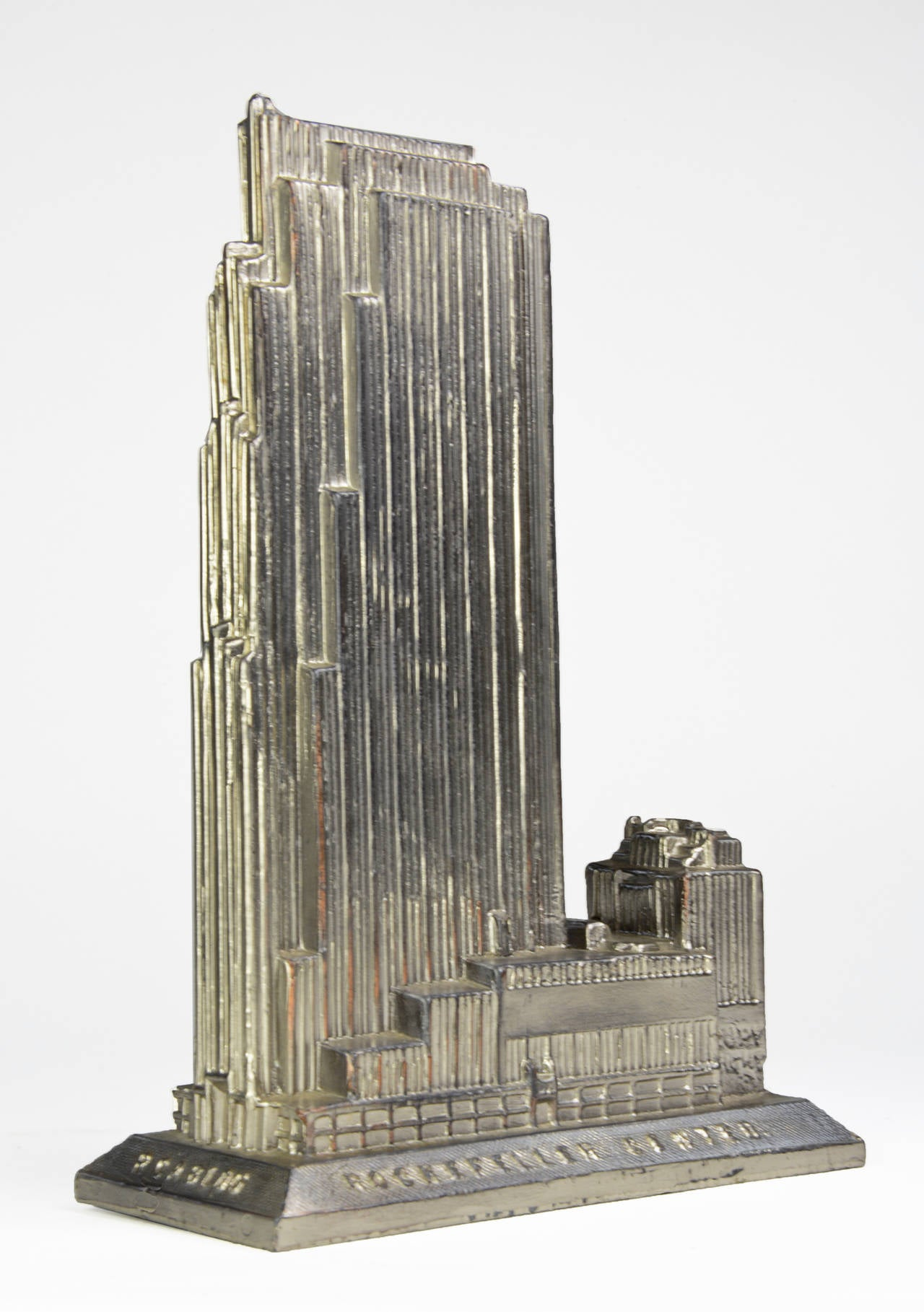 Scarce art deco souvenir architectural model of the rca for Model house nyc
