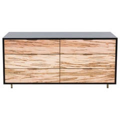 Sutton Dresser by Uhuru Design, Ambrosia Maple, Brass, Ebonized Oak