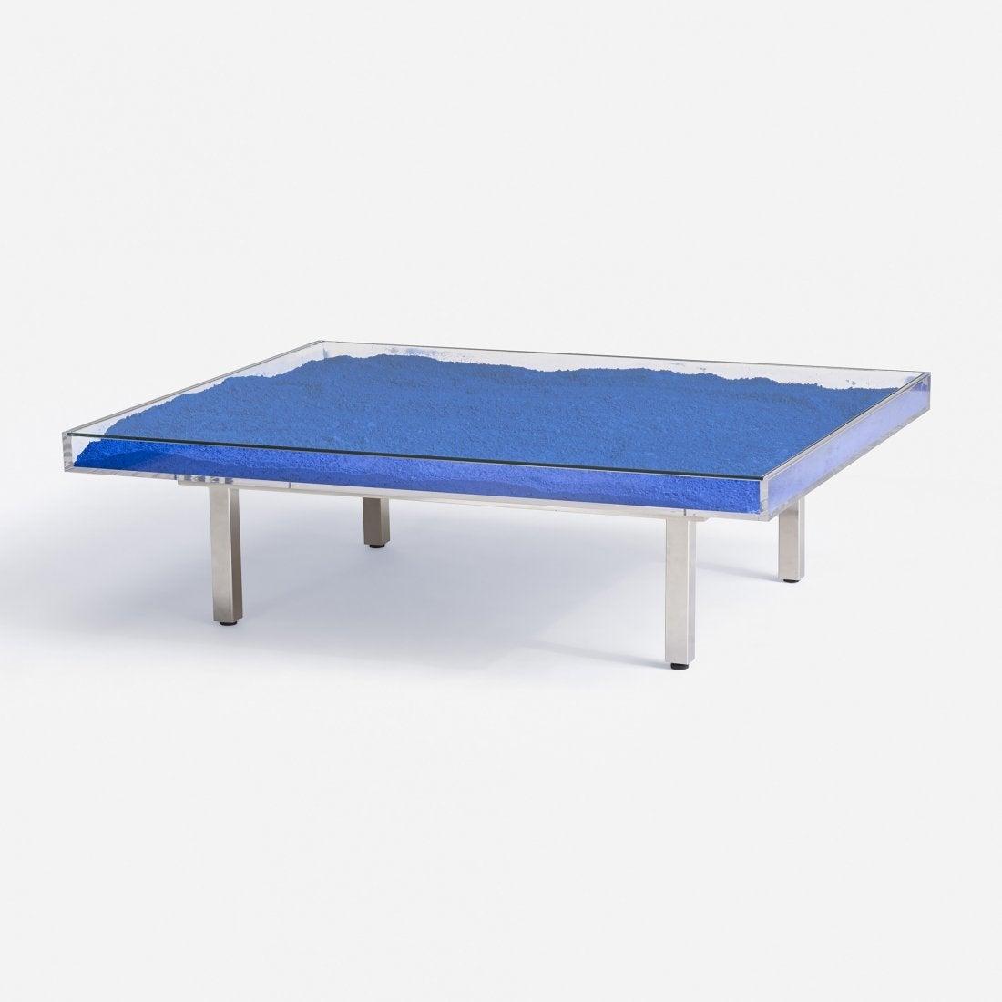 klein blue table by yves klein