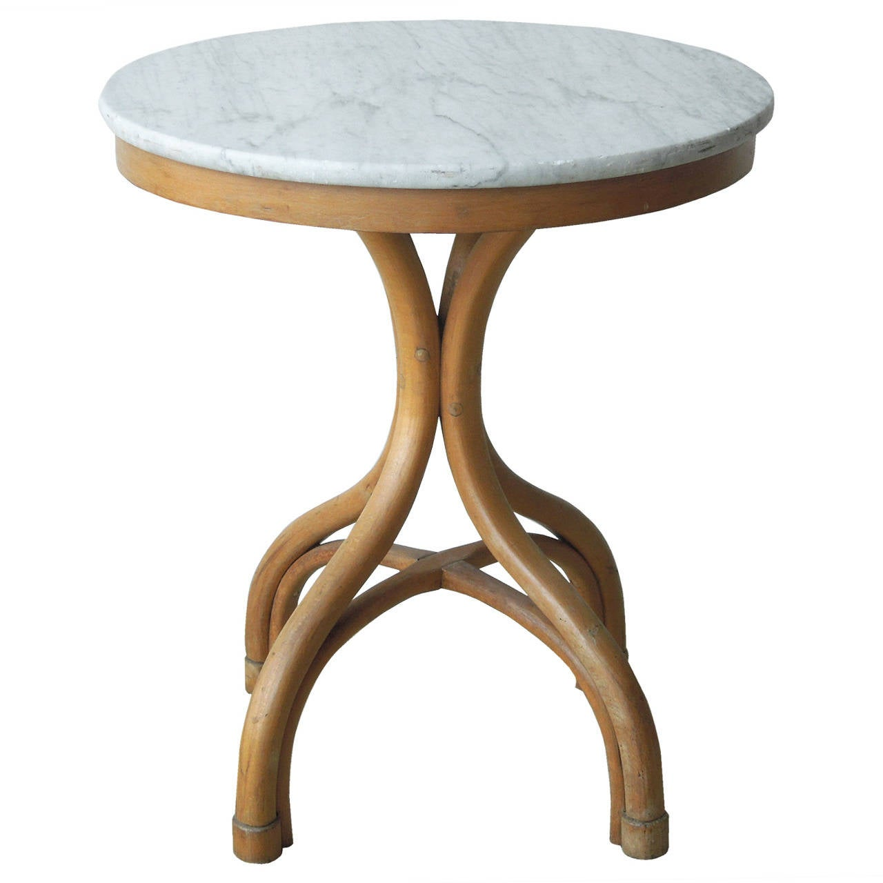 Thonet Bentwood Round Marble Top Table At 1stdibs