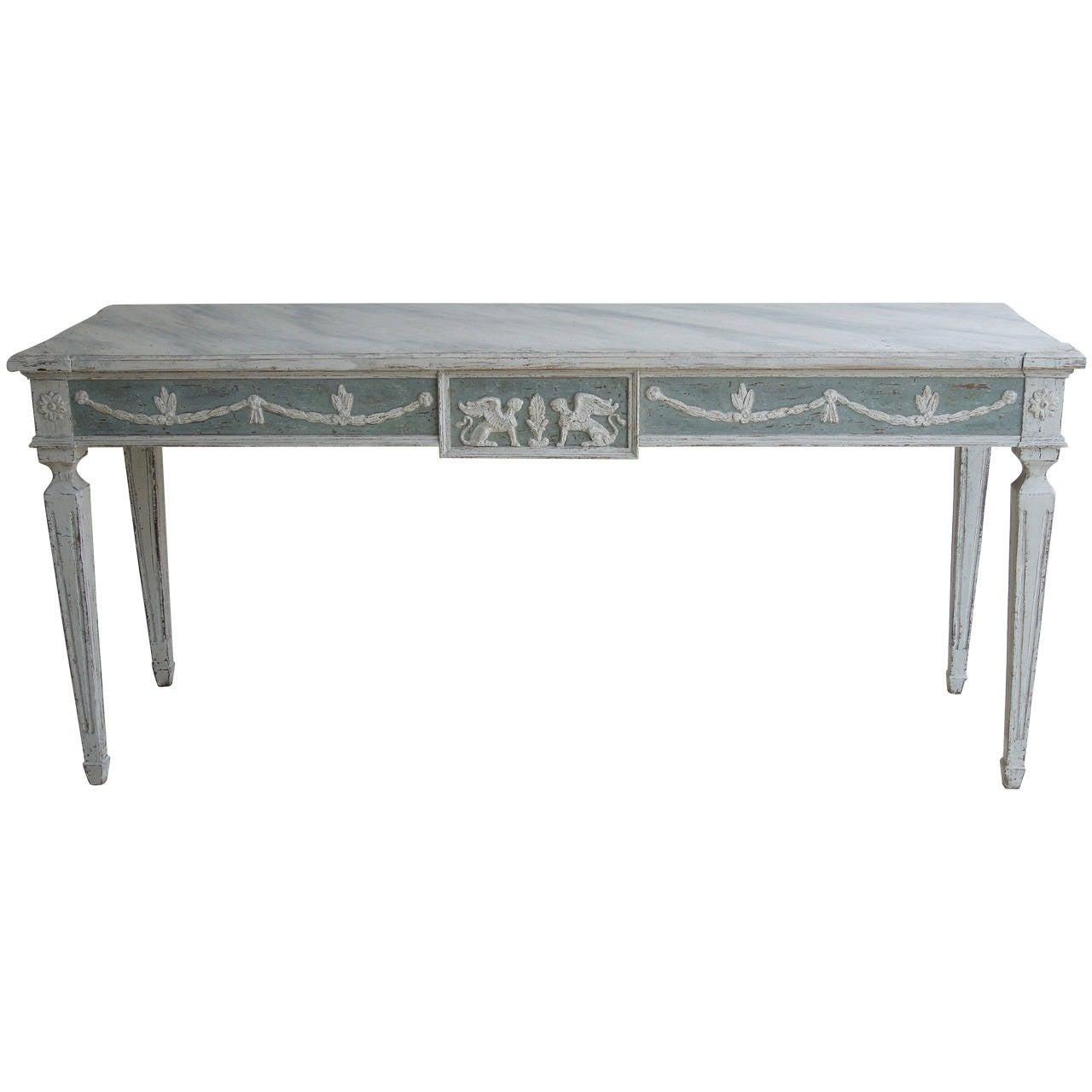 Swedish Gustavian Long Console Table At 1stdibs