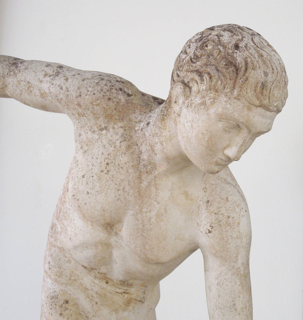 the discus thrower 12 1/4 inches tall the discus thrower museum replica figurine is cast in solid marble resin, a very durable material that mimics carved stone the exquisite detail of.