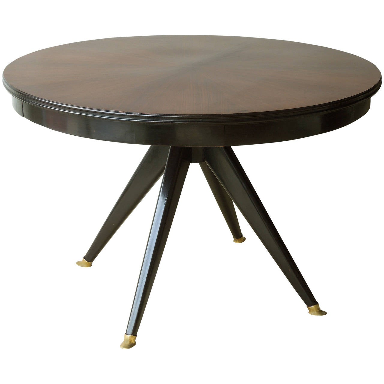 Mid century modern round center dining table at 1stdibs for Mid century modern dining table