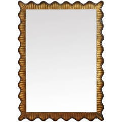 Venetian Hollywood Regency Scalloped Mirror, Italy