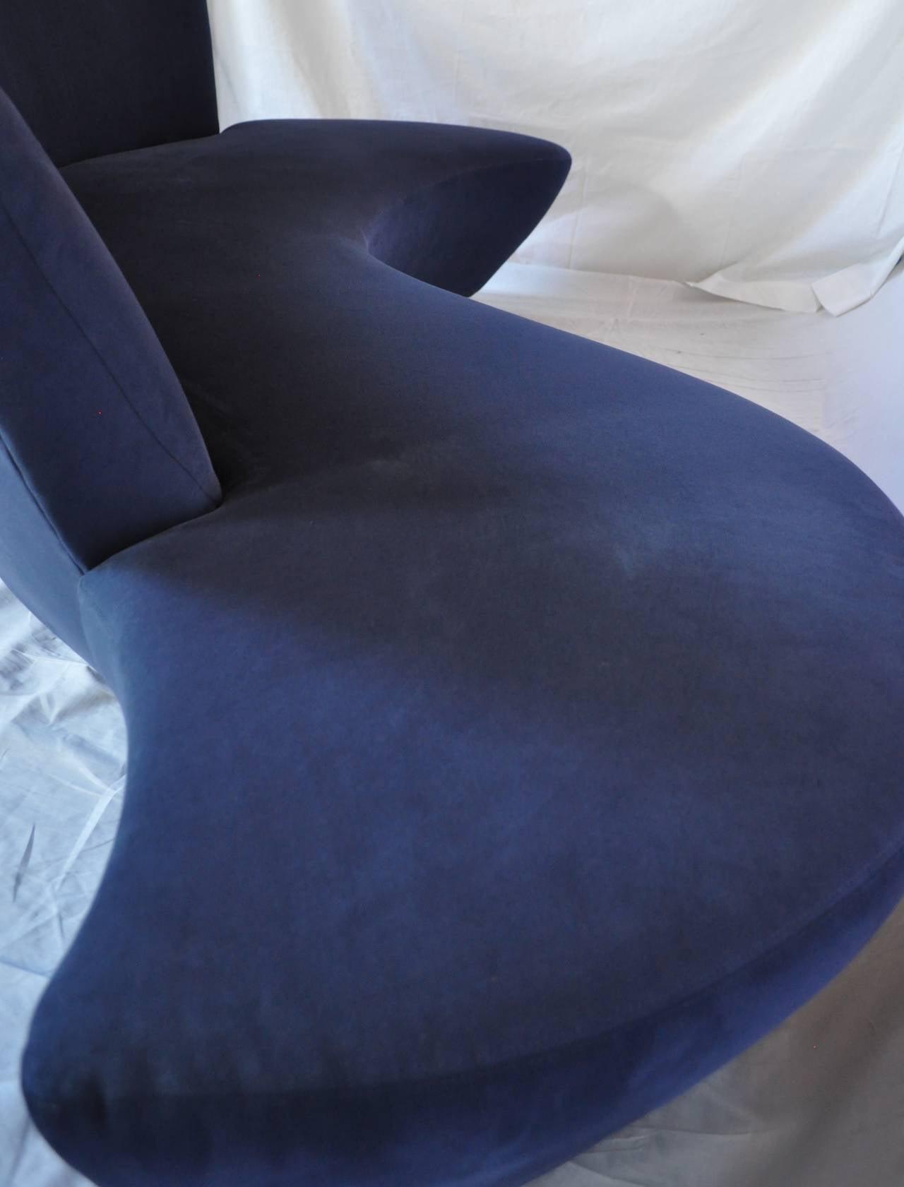 Vladimir Kagan Bilbao Curved Sculptural Sofa for Weiman Preview at