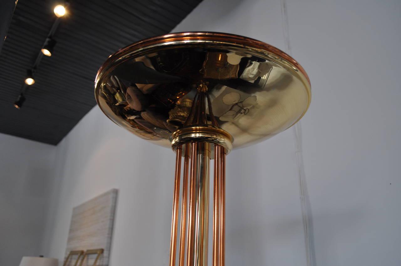 Italian Tubular Torchiere Floor Lamp At 1stdibs