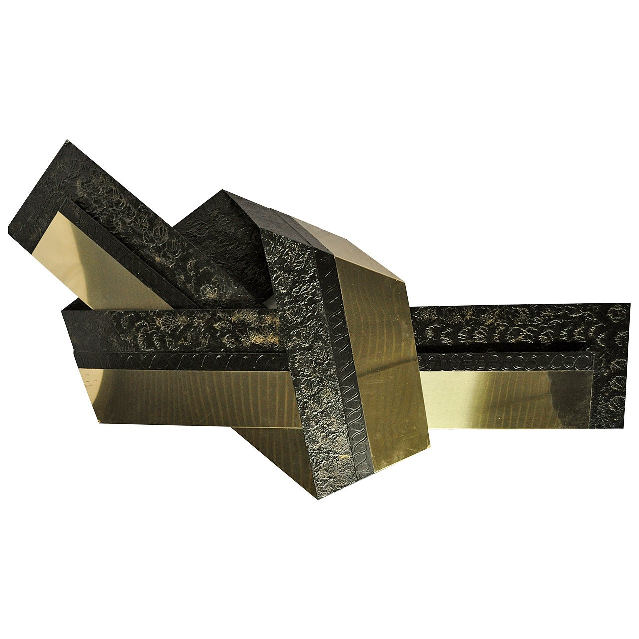 "Curtis Jere Brass Metal ""The Knot"" Wall Sculpture"
