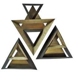 Curtis Jere Triangles Abstract Wall Sculpture