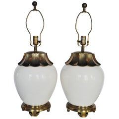 Chapman Brass Pagoda Asian Style Table Lamps