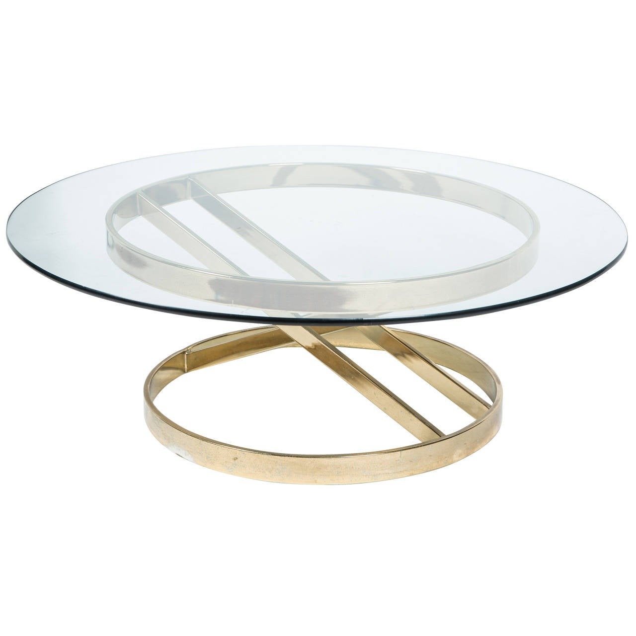 Sculptural Brass Cocktail Table in the Style of Milo Baughman