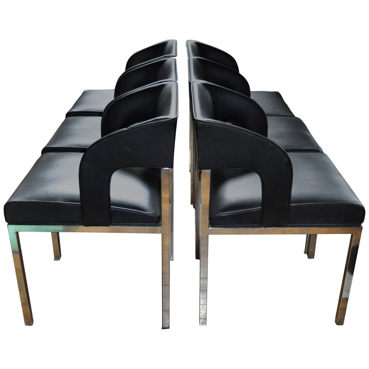 Mid century modern chrome dining chairs at 1stdibs for Modern chrome dining chairs