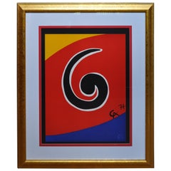 """Alexander Calder Original Lithograph """"Sky Swirl"""""""