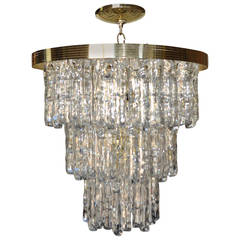 Kalmar Style Lucite Ice Chandelier, Italy