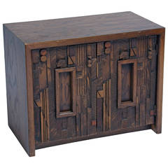Paul Evans Style Brutalist Night Stand
