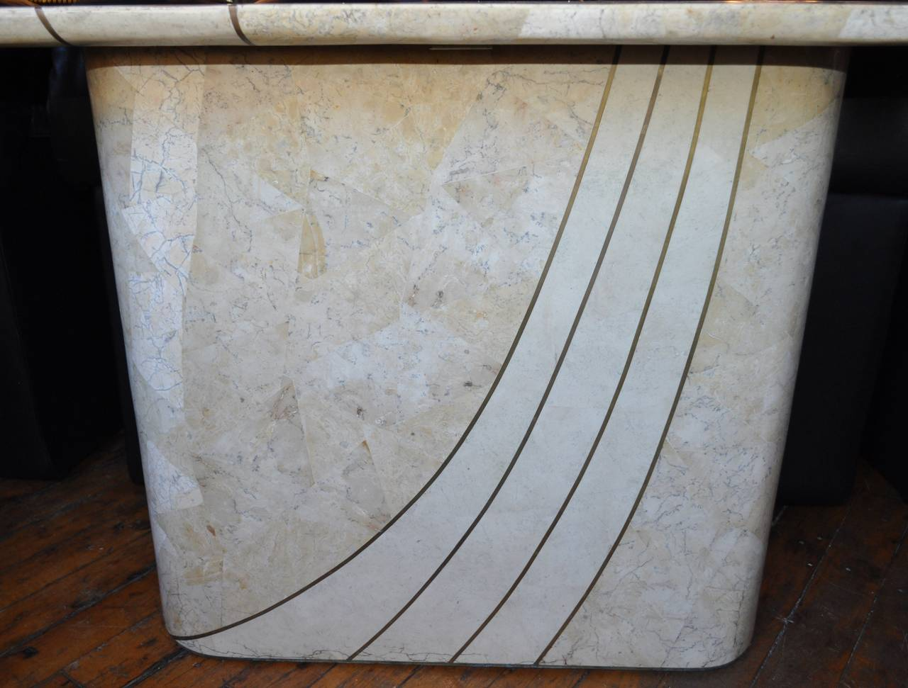 stone hall table. Large Mid-Century Modern Tessellated Fossil Stone And Travertine Console Table. This Beautiful Piece Hall Table N