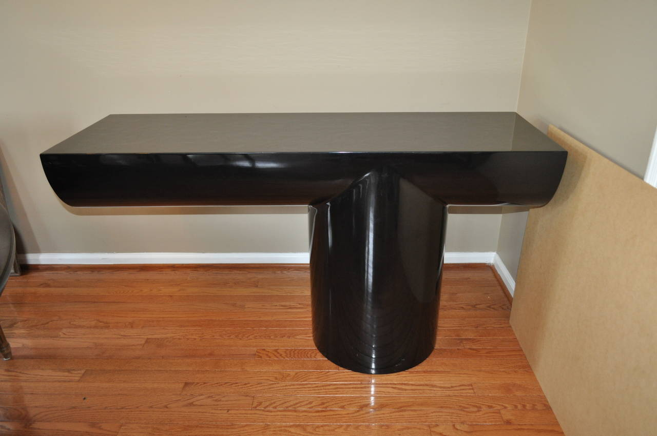 Brueton Mid Century Modern Cantilevered Lacquer Console