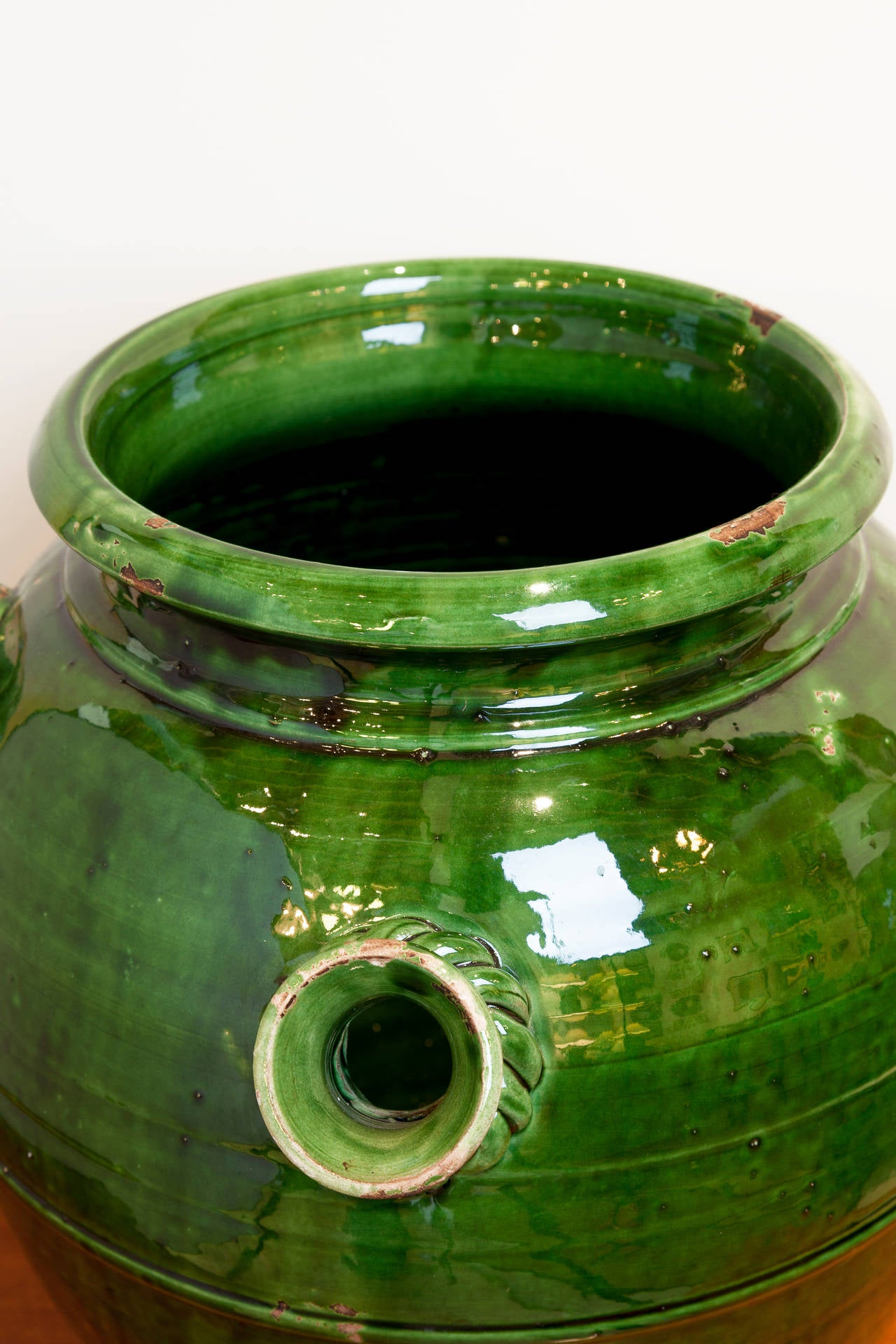 Pottery French Provençal Storage Jar, Late 19th Century For Sale