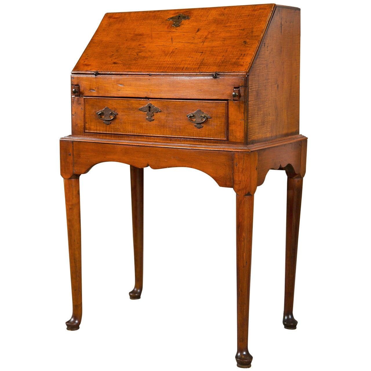19th Century Petite Slant Front Desk For Sale At 1stdibs