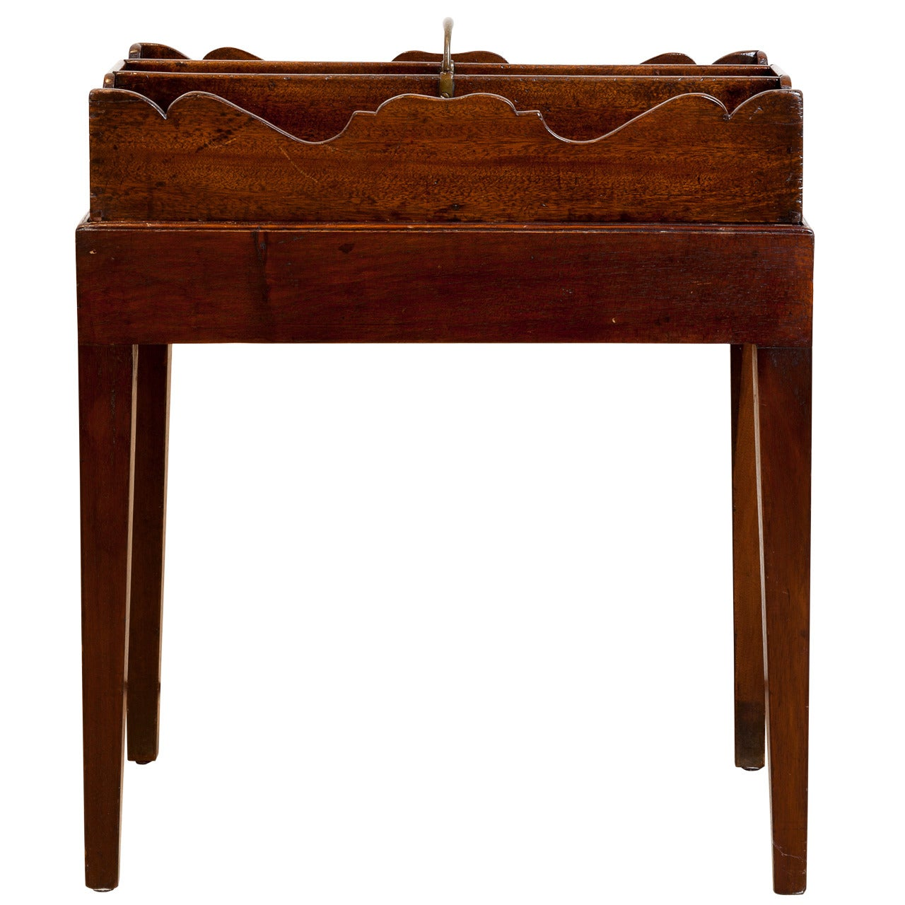 19th Century English Mahogany Cutlery Tray on Stand