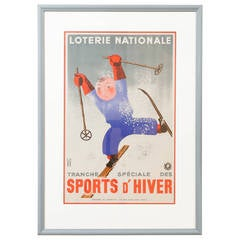 French Poster Sports D'Hiver, 1938