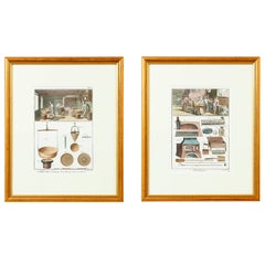 """Pair of Hand Colored """"Boulanger"""" Engravings, Denis Diderot, France"""