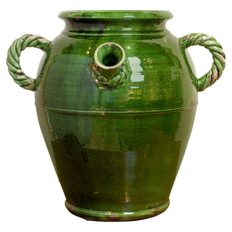 French Provençal Storage Jar, Late 19th Century For Sale