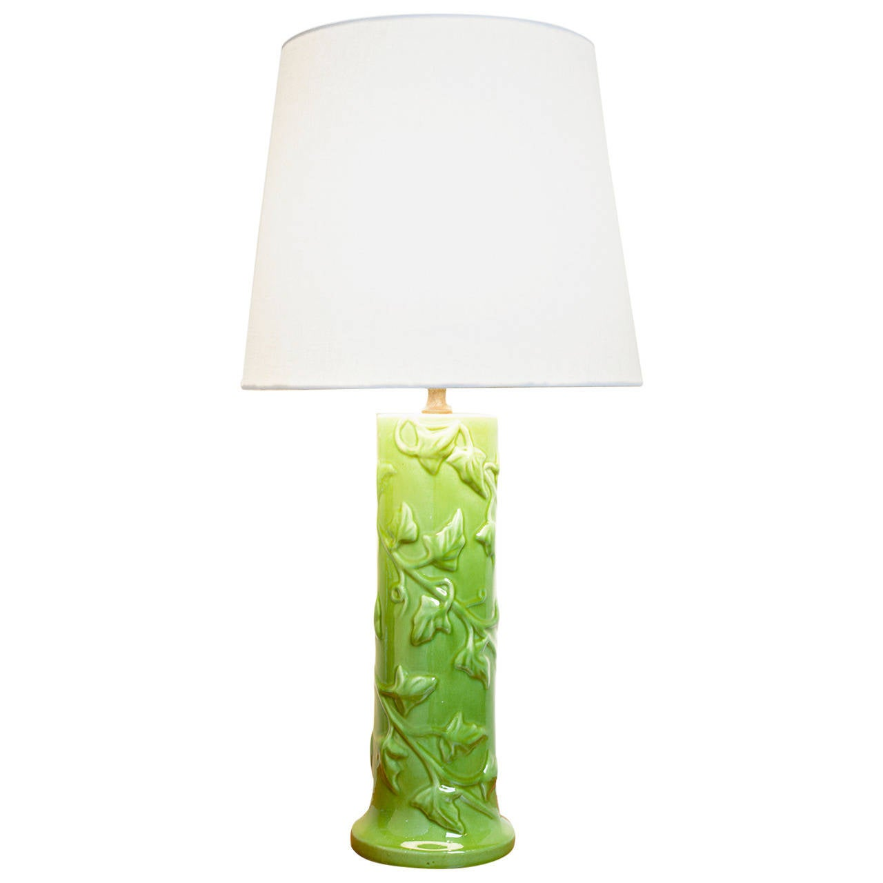 lime green art pottery lamp for sale at 1stdibs. Black Bedroom Furniture Sets. Home Design Ideas