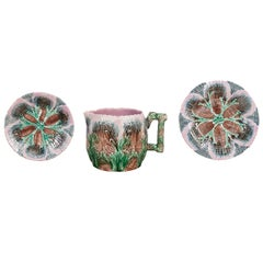 Etruscan Shell and Seaweed Majolica Set, Late 19th Century