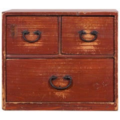 Japanese Small Chest or Ko Tansu, Early 1900s