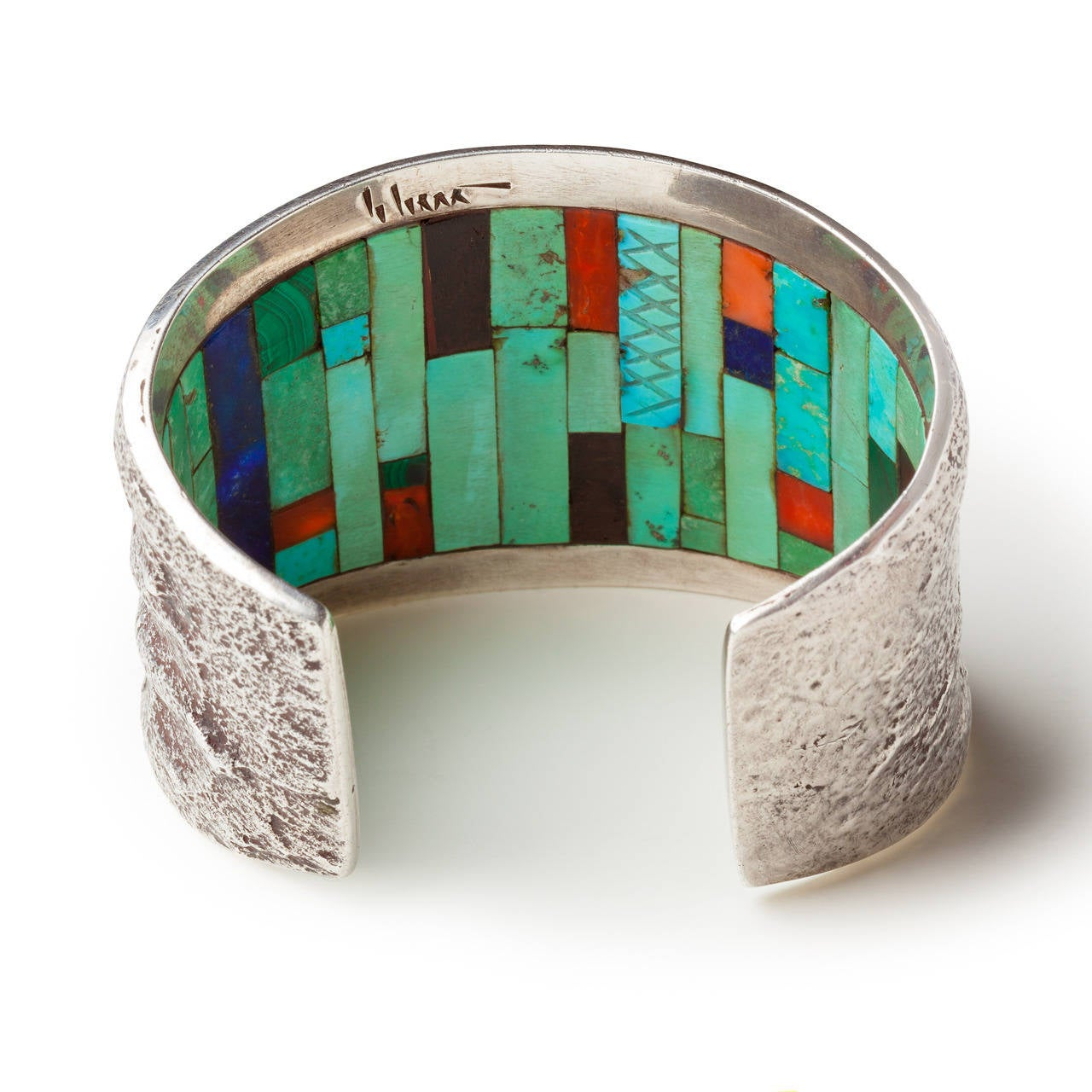 charles loloma jewelry charles loloma tufa cast cuff with inlay circa 1970 for 6249