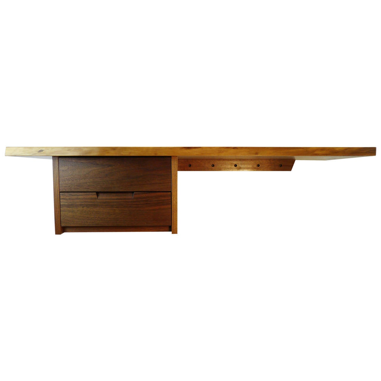 Mira Nakashima Wall Mounted Desk At 1stdibs