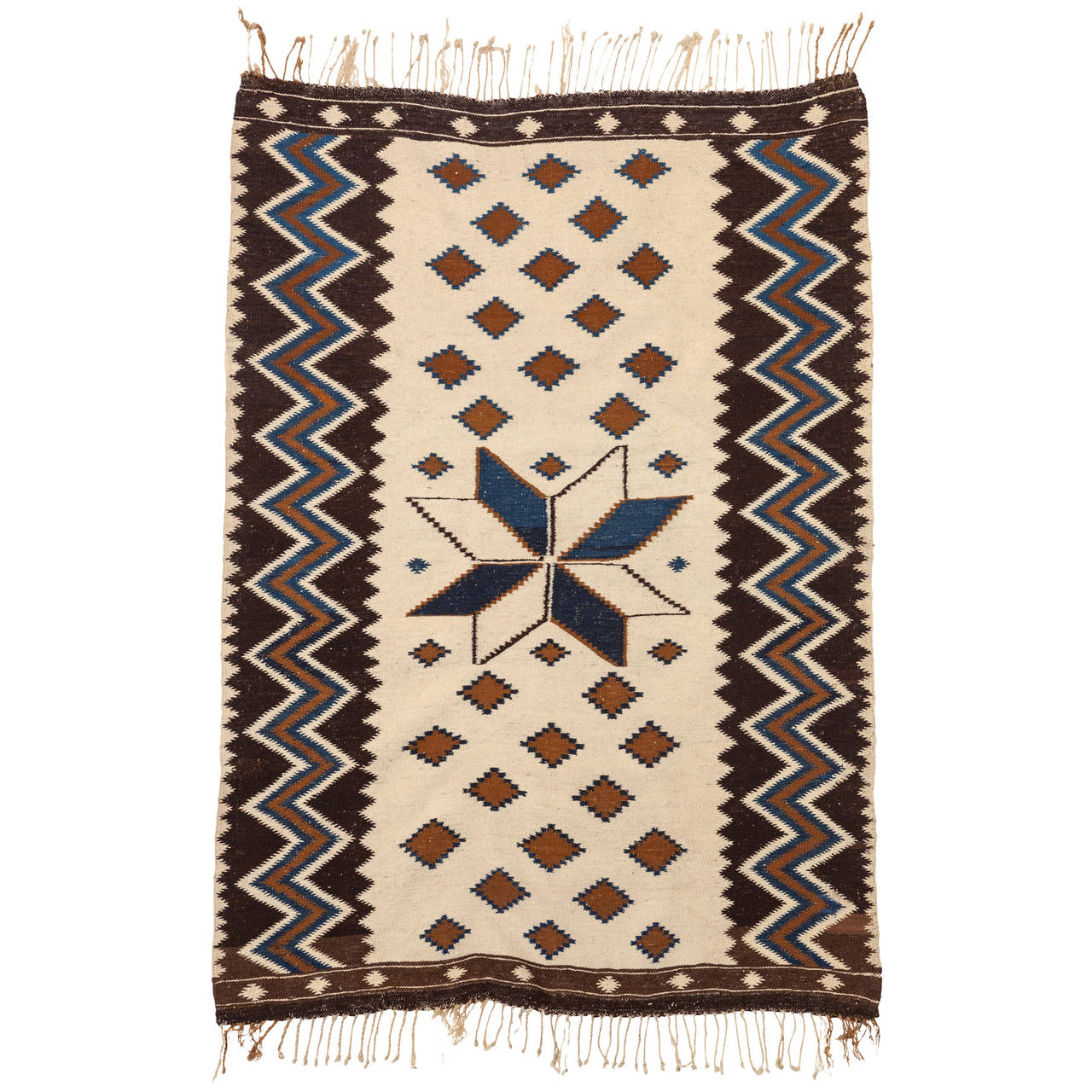 Vintage Mexican Zapotec Rug In Small Size With Stylized: Vintage Mayo Serape, Circa 1920s At 1stdibs