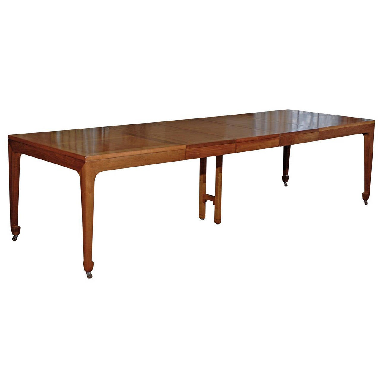 breathtaking vintage baker extension dining table in
