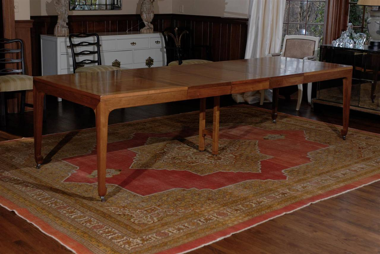 Breathtaking Vintage Baker Extension Dining Table in  : abp021220150227Customl from www.1stdibs.com size 1280 x 856 jpeg 123kB