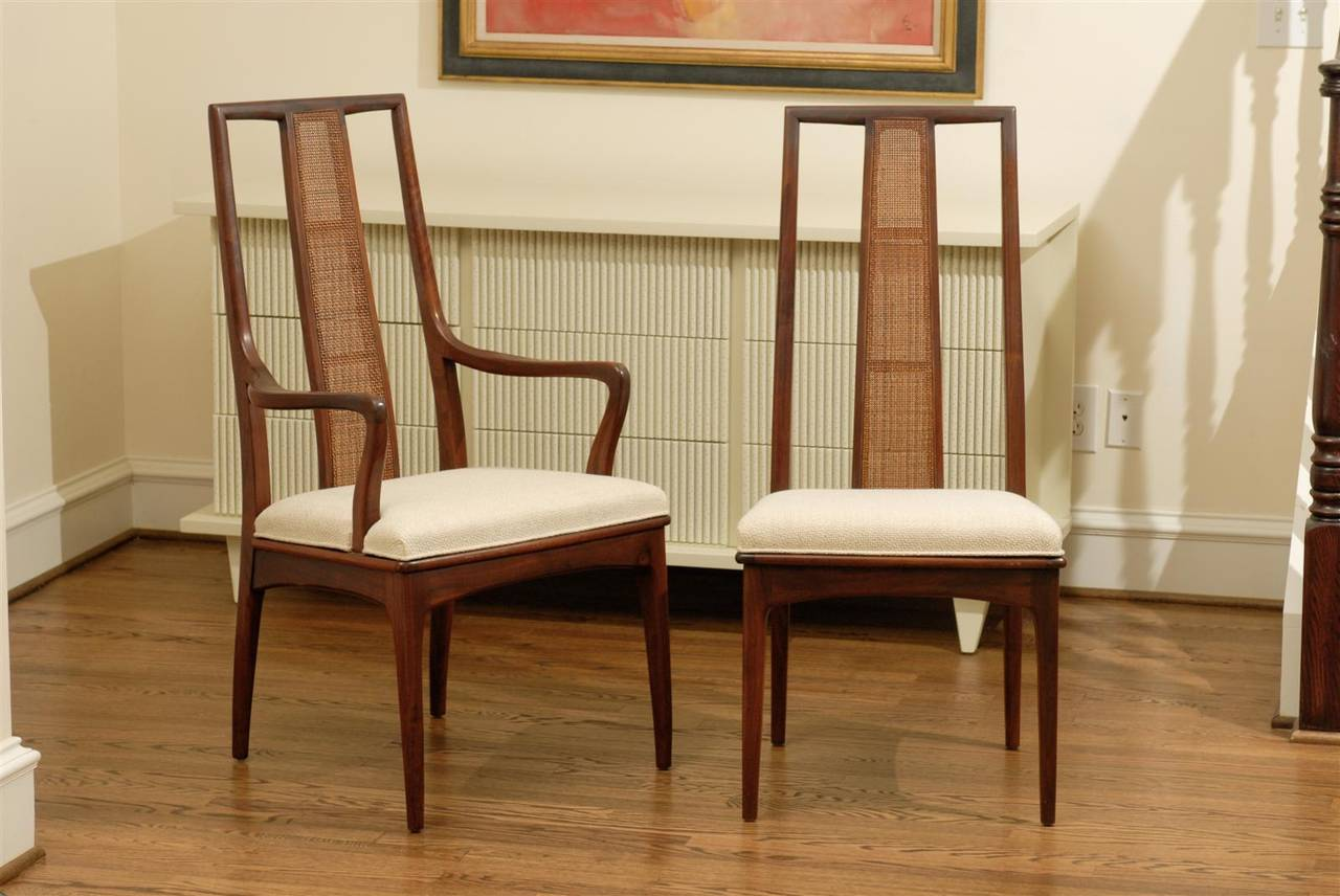 A Beautifully Conceived And Executed Set Of Six ( 6 ) Dining Chairs By John  Stuart