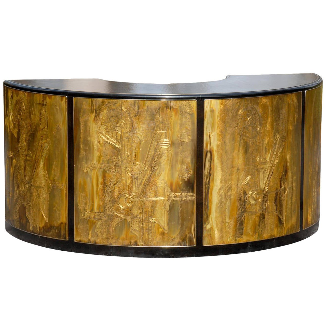 Mesmerizing Bernard Rohne For Mastercraft Curved Desk Or