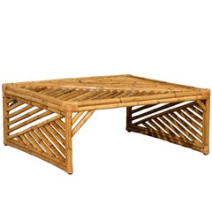 Striking Modern Chippendale Style Coffee Table in Bamboo