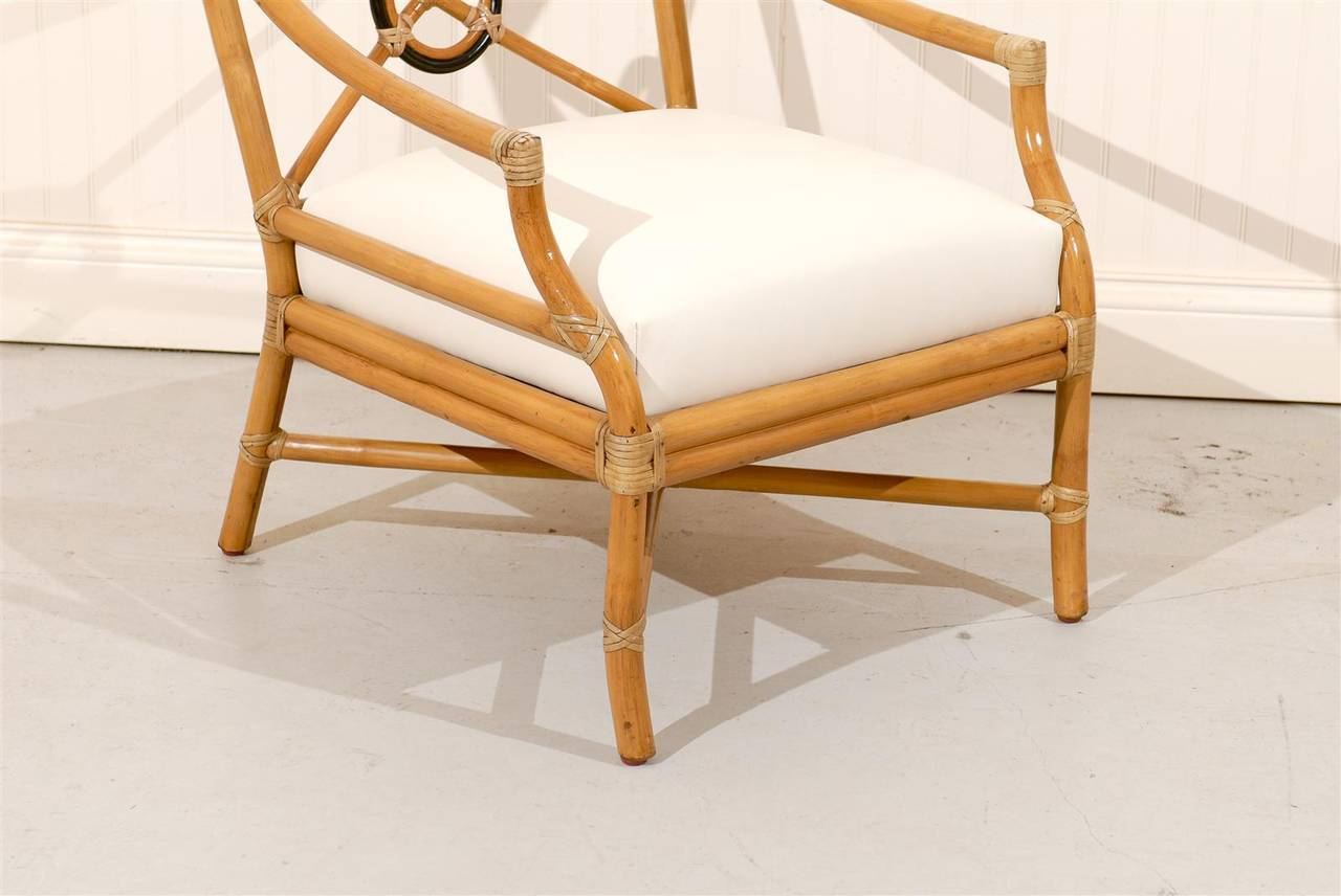 Beautiful Pair of Vintage Bamboo Tar Back Lounge Chairs by McGuire at 1stdibs